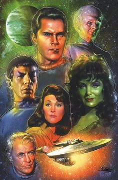 Jon Pinto SIGNED Star Trek The Cage Pilot Art Print Spock Leonard Nimoy Pike