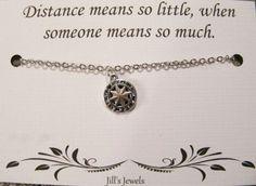 Longue Distance amitié collier boussole par JillsJewels4You