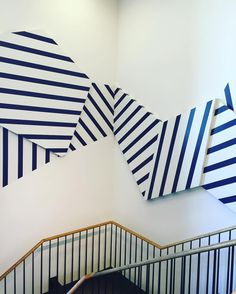 Are you ready? Get your red white and blue stripes out for Memorial Day Weekend. @jcrew is ready. #blueandwhite #stripes #storedesign #art by stylebeatblog