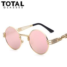 2f4a567923 ... Sunglasses Men Women Metal WrapEyeglasses Round Shades Brand Designer  Sun glasses Mirror High Quality UV400-in Sunglasses from Apparel  Accessories on ...