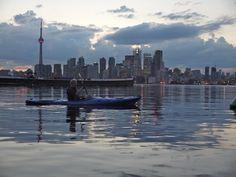 Kayaking on Lake Ontario at downtown Toronto.