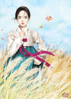 Kai Fine Art is an art website, shows painting and illustration works all over the world. Korean Anime, Korean Art, Korean Illustration, Illustration Art, Korean Painting, Fanart, China Art, Japanese Art, Amazing Art