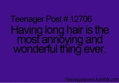 Im not a teen but yes long hair ♡ teen posts, teenager posts, i laughed, ha Retro Humor, Funny Quotes, Funny Memes, Hilarious, Teen Quotes, Funny Teenager Quotes, Jokes, Girl Quotes, Teen Posts