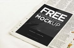 Free PSD Goodies and Mockups for Designers: FREE NEWSPAPER AD MOCKUP - DOWNLOAD HERE