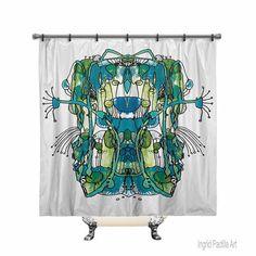 BOHO Shower Curtain, Shower Curtain, Orange Shower Curtain, Shower Curtains,  Tangerine, Fabric Shower Curtain, Shabby Chic Shower Curtain   Pinterest ...