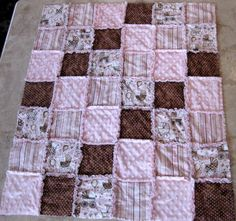 RAG Instructions Quilt Pattern make a RAG Quilt Baby Toddler via Etsy
