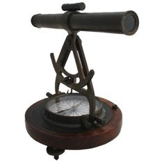 "10"" Antique Finish Surveying Theodolite - Brass Survey Tool"