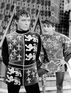 Sixties | Richard Burton and Roddy McDowell in the musical version of Camelot, 1960