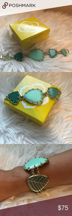 Kendra Scott Bracelet Stunning green stones with gold accents. Great condition only wore a few times Kendra Scott Jewelry Bracelets