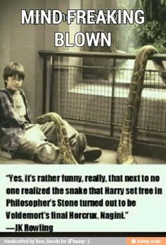Never realized that?