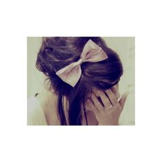 Pinspire - bow ❤ liked on Polyvore featuring hair, people, hairstyle, cabelos, girls and hair bow accessories
