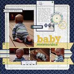 4 photo 1 page Scrapbooking-Baby Layouts by cassandra