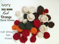 Set of 50 Two Inch Burlap Flowers in Your by redesignaccessories, $37.50