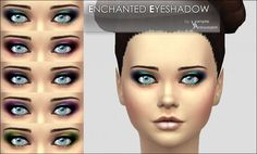 Mod The Sims: Enchanted Eyeshadow -5 colors- by Vampire_aninyosaloh • Sims 4 Downloads