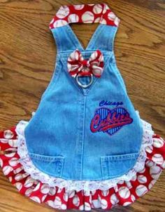 Chicago Cubbies Overall Dog Dress