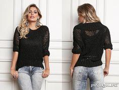 Ажурный пуловер спицами с рукавом «летучая мышь»