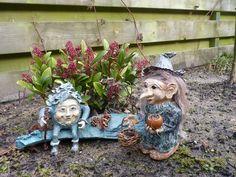 Humpty Dumpty en Heks. Gemaakt van zelf hardende klei. Made by Gerda.