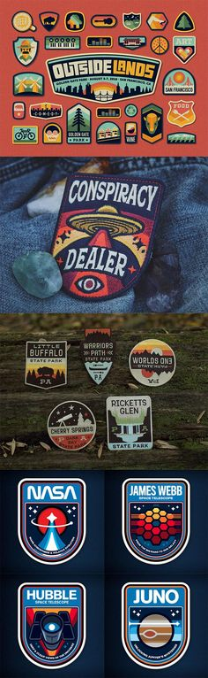 Showcase of 40 Creative Embroidered Patch Designs