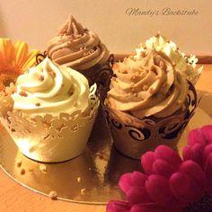 Zitronencupcakes & Haselnusscupcakes mit einem Frosting aus Mascarpone