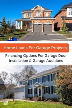 Ready to build a garage or add new garage doors? With garage financing, your dream of owning a beautiful, functional garage is possible! Here are the best financing options and home loans for garage additions and garage door installation. Garage Door Cost, Home Renovation Loan, Home Equity Line, Building A Garage, Garage Door Installation, Metal Garages, Garage Addition, Makeover Before And After, Garage Remodel