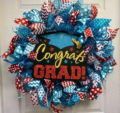 Graduation Wreath, Graduation Decorations, Teacher Wreath, Classroom Wreath, School Wreath by Texascaseyscreations on Etsy