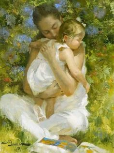 Kai Fine Art is an art website, shows painting and illustration works all over the world. Mother Daughter Art, Mother Art, Mother And Child, Tom Bagshaw, Mother Pictures, Modern Impressionism, Ad Art, Precious Children, Caravaggio
