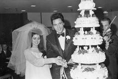 Elvis and Priscilla. No one is really ballsy enough for veils like that anymore!