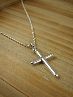 Cross Necklace For Him Cross Pendant for by ShinyLittleBlessings, $29.00