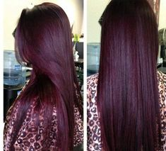 Deep plum, burgundy hair color plum hair 15 Awesome Hair Colors You Want To Try This Year Pelo Color Vino, Pelo Color Borgoña, Color Red, Plum Colour, Eye Color, Hair Color And Cut, Cool Hair Color, Deep Burgundy Hair Color, Violet Red Hair Color