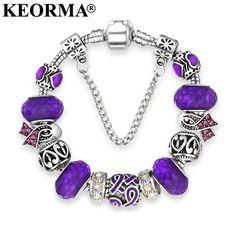 KEORMA European Ribbon Charm Bracelet for Women Luxury Brand Crstal Beads Bracelets & Bangles Plusera for Mother's Day Gift -  http://mixre.com/keorma-european-ribbon-charm-bracelet-for-women-luxury-brand-crstal-beads-bracelets-bangles-plusera-for-mothers-day-gift/  #Bracelets