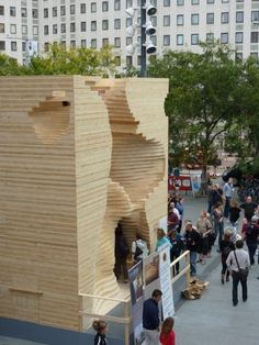 Termite Pavilion. Cross Laminated Timber Panel Structures by KLH.