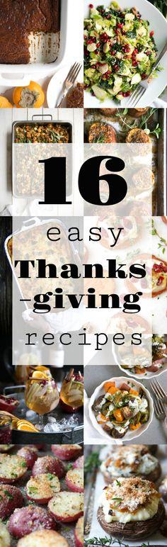 16 Easy and Delicious Thanksgiving Recipes #thanksgiving #recipes #dessert #sides #stuffing #sweetpotatoes #mashedpotatoes #cake #ricepudding #sangria #butternutsquash #lasagna #healthy #vegetarian