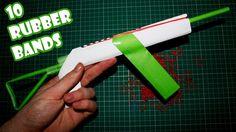 Make a Paper AK-47 Gun that Shoots 10 Rubber Bands