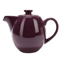 Steaz™ Café Teapot with Stainless Steel Infuser. Love the purple! Serveware, Tableware, Teapot, Stainless Steel, Purple, Kitchen, Dinnerware, Tea Pot, Cooking