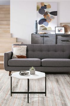 Grey Mid Century Sofa. Get A Chic Retro Look For Way Less With Our