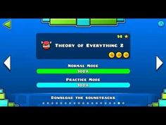 """Geometry dash"" level 18 - Theory of Everything 2 (100%) - YouTube"