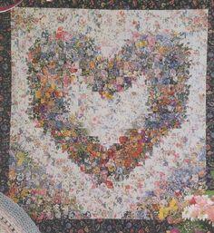 colorwash Heart Quilt Pattern, By Heatherworks, Uses Strip-piecing Methods