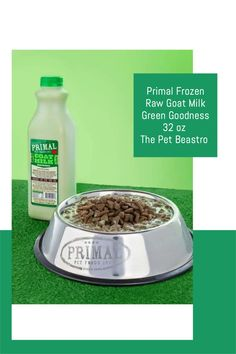 Easily boost your pet's diet with pure and flavorful Goat's Milk from Primal! Your pet will love the delicious creamy taste! Raw goat's milk provides your pet with essential vitamins, minerals, electrolytes, trace elements, enzymes, protein, and fatty acids to keep them strong and healthy! Boosts the immune system and promotes good overall health! Organic Quinoa, Organic Turmeric, Better Bowl, Raw Pet Food, Lactobacillus Acidophilus, Turmeric Health Benefits, Pet Bowls, Goat Milk, Picky Eaters
