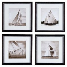 Eichholtz Ec081 Michael Kahn Prints Set Of 4 (28.510 RUB) ❤ liked on Polyvore featuring home, home decor, wall art, grey, ocean wall art, grey home decor, sea wall art, sea home decor and grey wall art