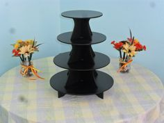Large 4 Tier Round Cake / Cupcake Stand 5 Black by FranksCrafts, $49.95