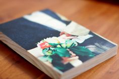 We love wedding photos! This is a 5x7 PhotoBoard from PhotoBarn.