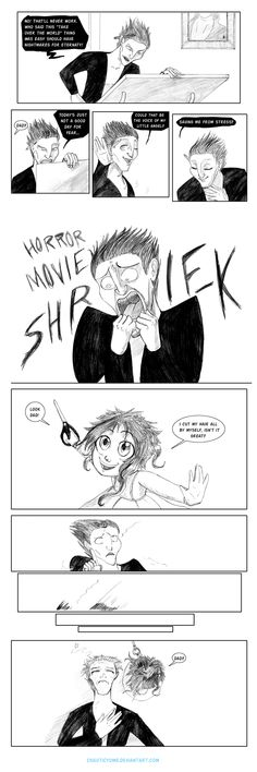 The Shriek!!  LOL!!  -  Rise of the Guardians (2012) - Fan Art - Pitch - Surprise by ~ChaoticYume on deviantART
