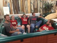 How do volunteers from the Salem Chapel help at the ReStore? By helping Vince our Procurement Director move a 6 men hot tub to the Restore. Now you can purchase the hot tub and the money will help Habitat serve another family! #habitatforsyth #wsnc