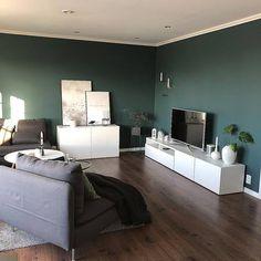 10 hjem malt i Dark Teal 5454 fra Jotun Dark Teal, Dining Bench, Bedroom, Interior, Furniture, Home Decor, Nye, Robin, Lisa