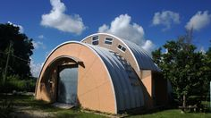 Steel buildings and metal buildings pre-engineered for building kit projects such as steel garages, RV Storage, Quonset Huts, Steel Barns, Carports. Arch Building, Building A House, Garden Architecture, Amazing Architecture, Earthship Design, Quonset Hut Homes, Steel Homes, Silo House, Sea Container Homes