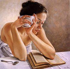shower, book, tea...