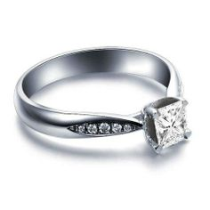 Princess Cut Engagement Ring With Twisted Band 45