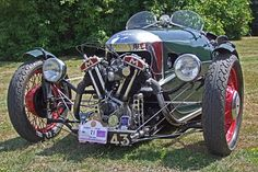1938 Morgan with 1000cc Matchless MX engine.