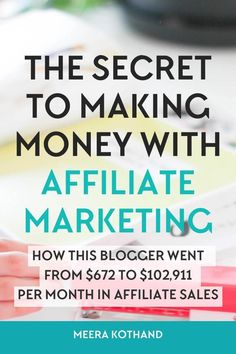 In this post I interview Michelle who makes over $50,000 each month in affiliate sales and ask her some tough questions about affiliate marketing and the mistakes and myths bloggers make and have about it via /meerakothand/
