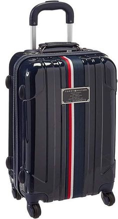 Tommy Hilfiger Lochwood Upright 21 Suitcase Carry on Luggage Best Travel Luggage, Cute Luggage, Luggage Sets, Travel Bags, Small Luggage, Mochila Tommy, Tommy Hilfiger Luggage, Hard Sided Luggage, Cute Suitcases